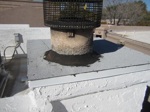 Improperly Sealed Fireplace Chimney Cap